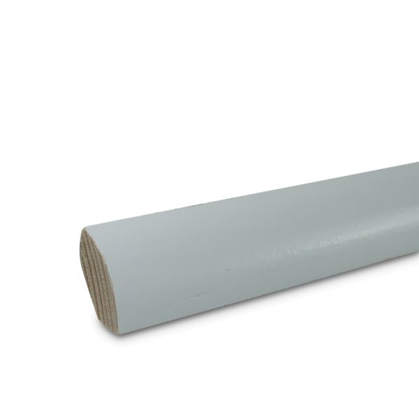 Viertelstab Holz massiv weiß lackiert 2400x18x18 mm Echtholz Leiste Sockelleiste