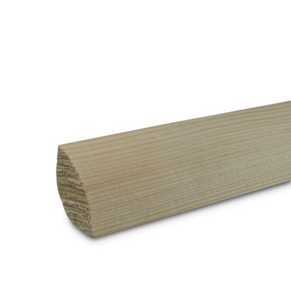 Viertelstab Holz Kiefer massiv 2400x22x22 mm Echtholz Leiste Sockelleiste
