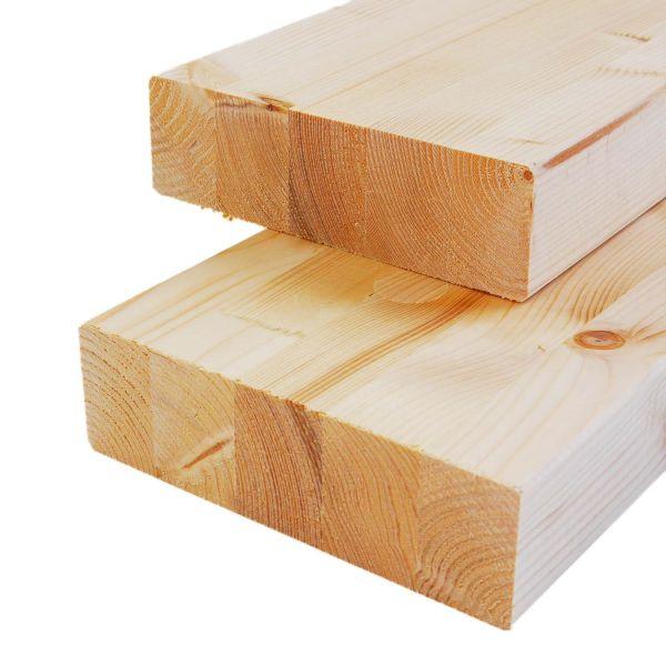 Brettschichtholz Fichte, allseitig gehobelt, stabil, 12x24x Zuschnitt cm