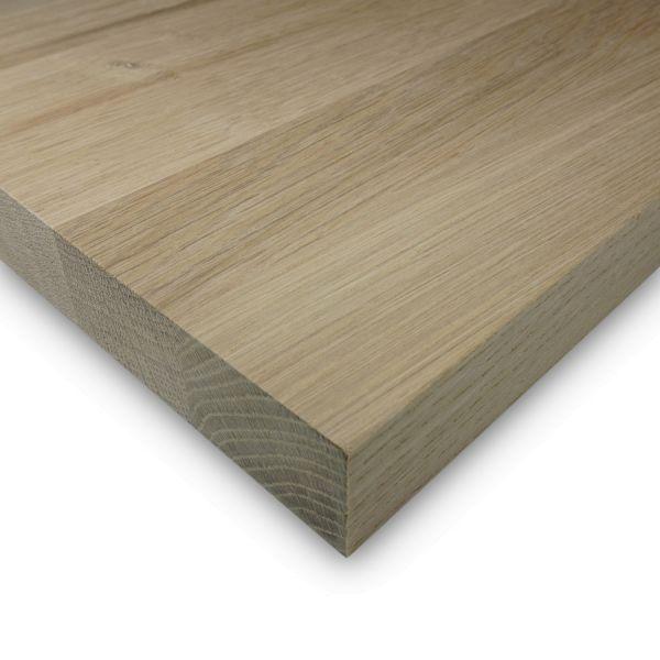 Leimholzplatte Eiche Zuschnitt 27 mm Holzplatte Möbelbau Echtholz Keilgezinkt