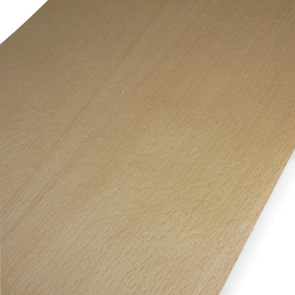 Echtholzfurnier mit Schmelzkleber 210x25cm Buche gedämpft