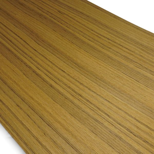 Echtholzfurnier ohne Schmelzkleber 190x28cm Teak